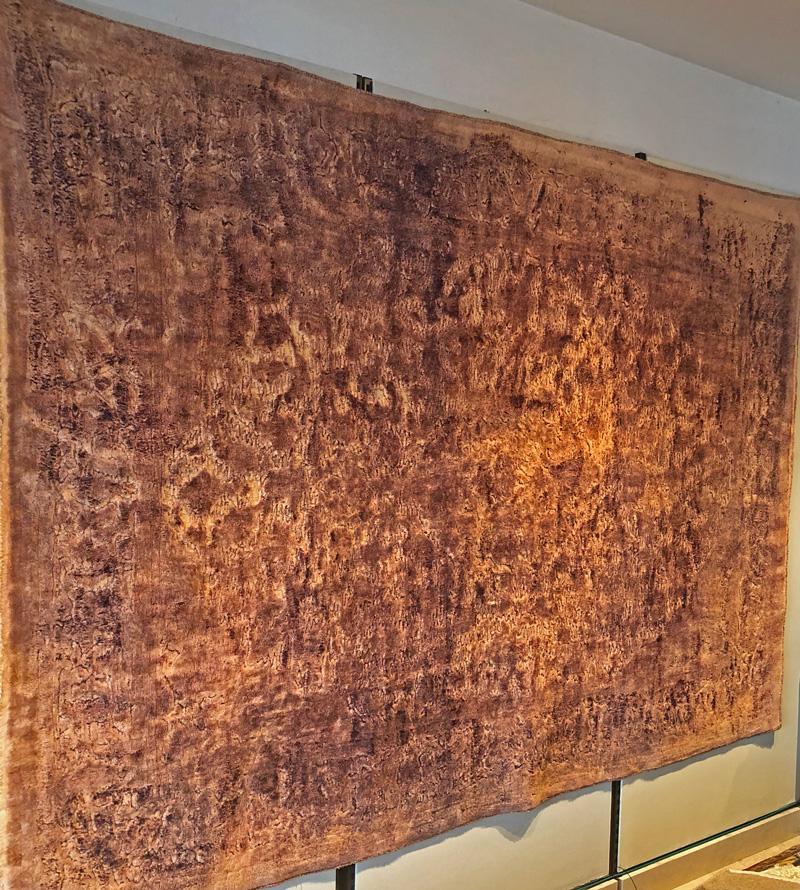 Ein Teppich aus Persien an der Wand von Sasan Tabatabaei in Klagenfurt